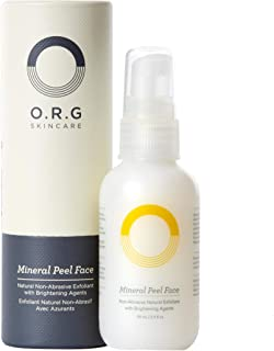 O.R.G Skincare | Mineral Peel Face for gentle, flash Exfoliation and natural brightening agent - 2oz