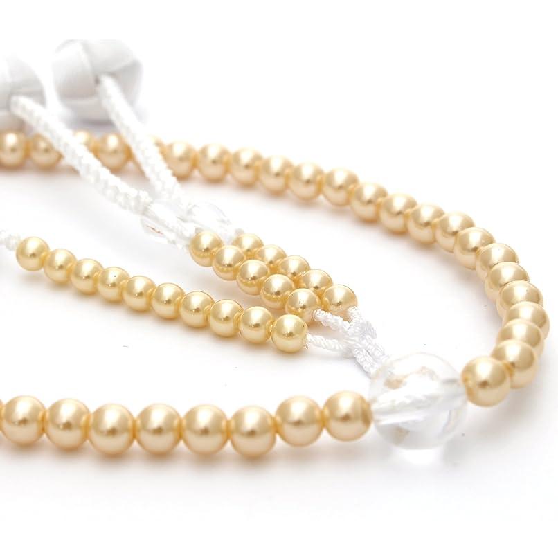 知っているに立ち寄るによると重要創価学会用念珠 女性用 パール ゴールド 小田巻梵天 高級房 SGI 数珠