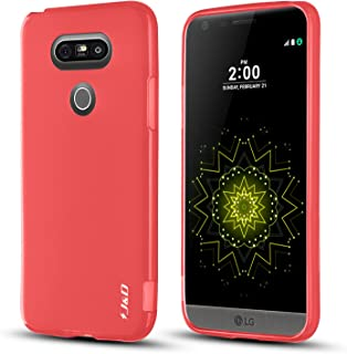 J&D Case Compatible for LG G5 Case, [Drop Protection] [Slim Cushion] Shock Resistant Protective TPU Slim Case for LG G5 Bumper Case - Red