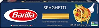 BARILLA Blue Box Spaghetti Pasta, 16 oz. Boxes (Pack of 8), 8 Servings per Box - Non-GMO Pasta Made with Durum Wheat Semol...