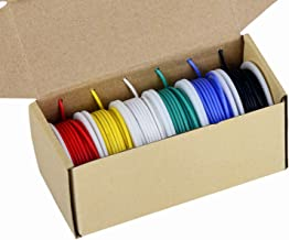 20awg Electronics Wire, Colored Wire Kit 20 Gauge Flexible Silicone Wire(6 different colored 23 Feet spools) 600V Insulated Wire High Temperature Resistance