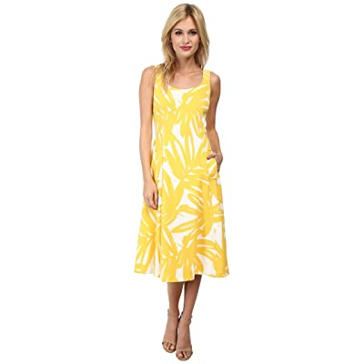 Donna Morgan Pique Knit Sleeveless Scoop Midi Dress (Flan Multi) Women