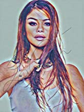 Selena Gomez Drawing Print Poster Hand Drawn Coloured Pencil #GOMEZ6