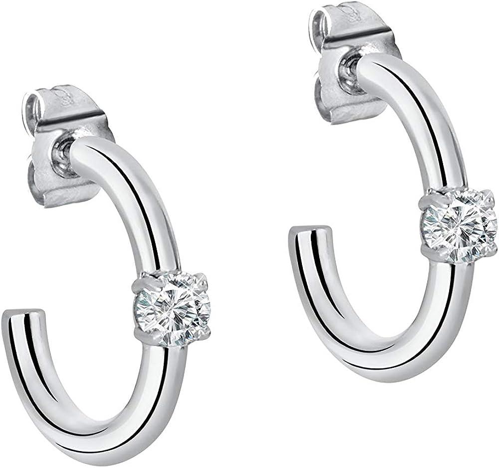 Morellato orecchini a cerchio da donna, argento 925 SAKM25