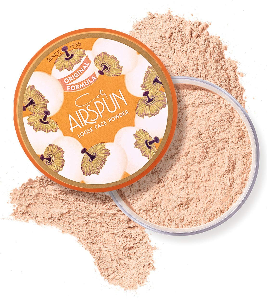 Coty Airspun Loose Face Powder 2.3 Ounce Honey Beige Light Peach Tone Loose Face Powder, for Setting or Foundation, Lightweight, Long Lasting, Pack of 1