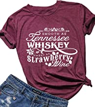 Country Music Cute Funny Graphic T Shirt Tops for Women Friend Tennessee Whiskey Strawberry Wine Tee Shirt Tunic