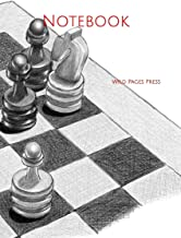 Notebook: sketch chess drawing black white gray scale teach lesson naughty bird step