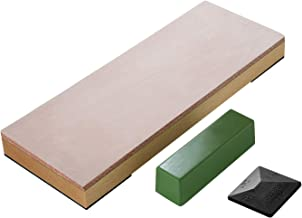 """SHARPAL 204N Leather Strop 8"""" x 3"""" Kit with 2 Oz. Polishing Compound &.."""