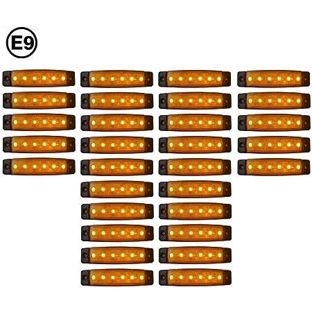 A1 20 X Led 24v Orange Begrenzungsleuchte Positionsleuchte Seitenmarkierungsleuchte Lkw Auto