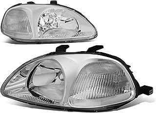 Chrome Housing Clear Corner Headlight Headlamp - Pair - for Honda Civic 96 97 98