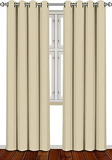 comprar comparacion Utopia Bedding [2 Paneles Cortina Opaca - Cortinas Aislantes Térmicas - con Ojales - (140 x 260 cm, Beige)