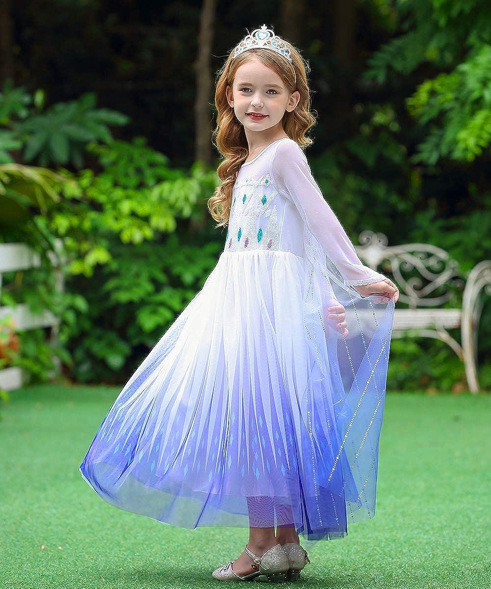 Axaxa Cinderella Princess Dress Up Costume Ball Gown Toddler Girl Halloween Cosplay 2-11T