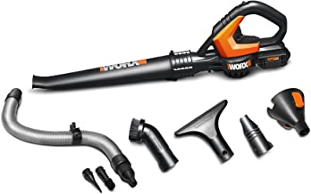 WORX WG545.1 20V Max Lithium Cordless AIR Blower/Sweeper, Battery Included, Beige