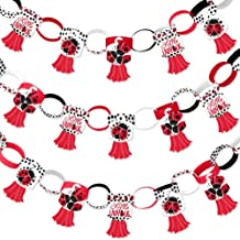 Big Dot of Happiness Happy Little Ladybug - 90 Chain Links and 30 Paper Tassels Decoration Kit - Baby Shower or Birthday Party Paper Chains Garland - 21 feet