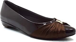hype Women's Bow Satin Buckle Flat Belly ZD10373