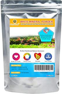 SunGrow Shirakura White Mineral Powder - Calcium Enriched For Shrimps Stress-Free Molting - Aids In Healthy & Active Breed...