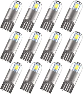 T10 194 Bulbs, Extremely Bright White Light Led 2825 W5W 175 168 Bulb for Dome Map Courtesy Trunk Tail Light, License Plat...