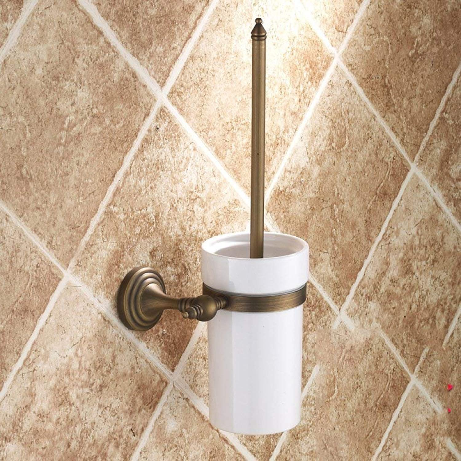 Accessories for Bathroom Toilet Antiques Cup All Toilets of The Bronze Brush Holder Toilet Brush Toilet Brush Bathroom European Retro