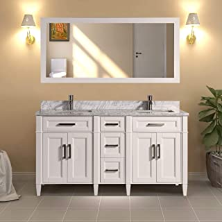 carrara marble vanity backsplash