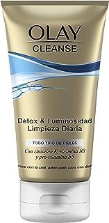 Olay Cleanse Detox & Luminosidad, Limpieza Diaria, todo tipo de Pieles, con Vitamina E y Pro-Vitamina B5, suave con la Pie...