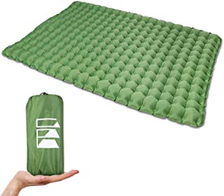 Equippt Ultralight Double Sleeping Pad | Camping Tent Mattress with Built-in Pump and Carry Pouch for 4WD, Van, Hiking, Ba...