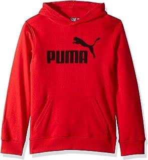 PUMA Big Boys' Fleece Pullover Hoodie, Ribbon red, XL