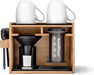 AeroPress Organizer | 100% Recyclable Bamboo, Stylish & Easy to Use | Designed for AeroPress Coffee Makers, AeroPress Accessories, and AeroPress Filters