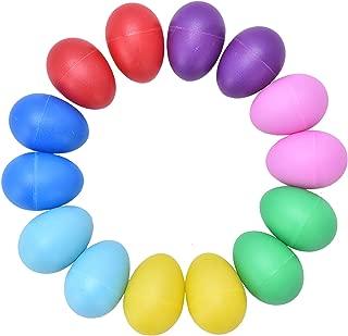 Plastic Egg Shaker Set, Buytra 14 Pack 7 Colors Egg Maracas Musical Instruments Toy for Kids Party Favors, Basket Stuffer Fillers