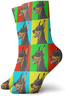 Calcetines deportivos flotantes lindos pintados a mano, calcetines unisex a media pantorrilla