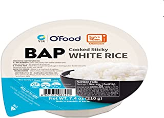Sponsored Ad - Chung Jung One O'Food BAP, Cooked Sticky White Rice, Ready to Eat, Microwave Safe, Pack of 12