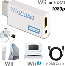 Wii to HDMI Converter 1080P for Full HD Device, Wii HDMI Adapter with 3,5mm Audio Jack&HDMI Output Compatible with Nintend...