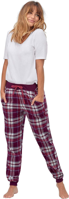 ellos Women's Plus Size Plaid Flannel Sleep Pants Pajama Bottoms