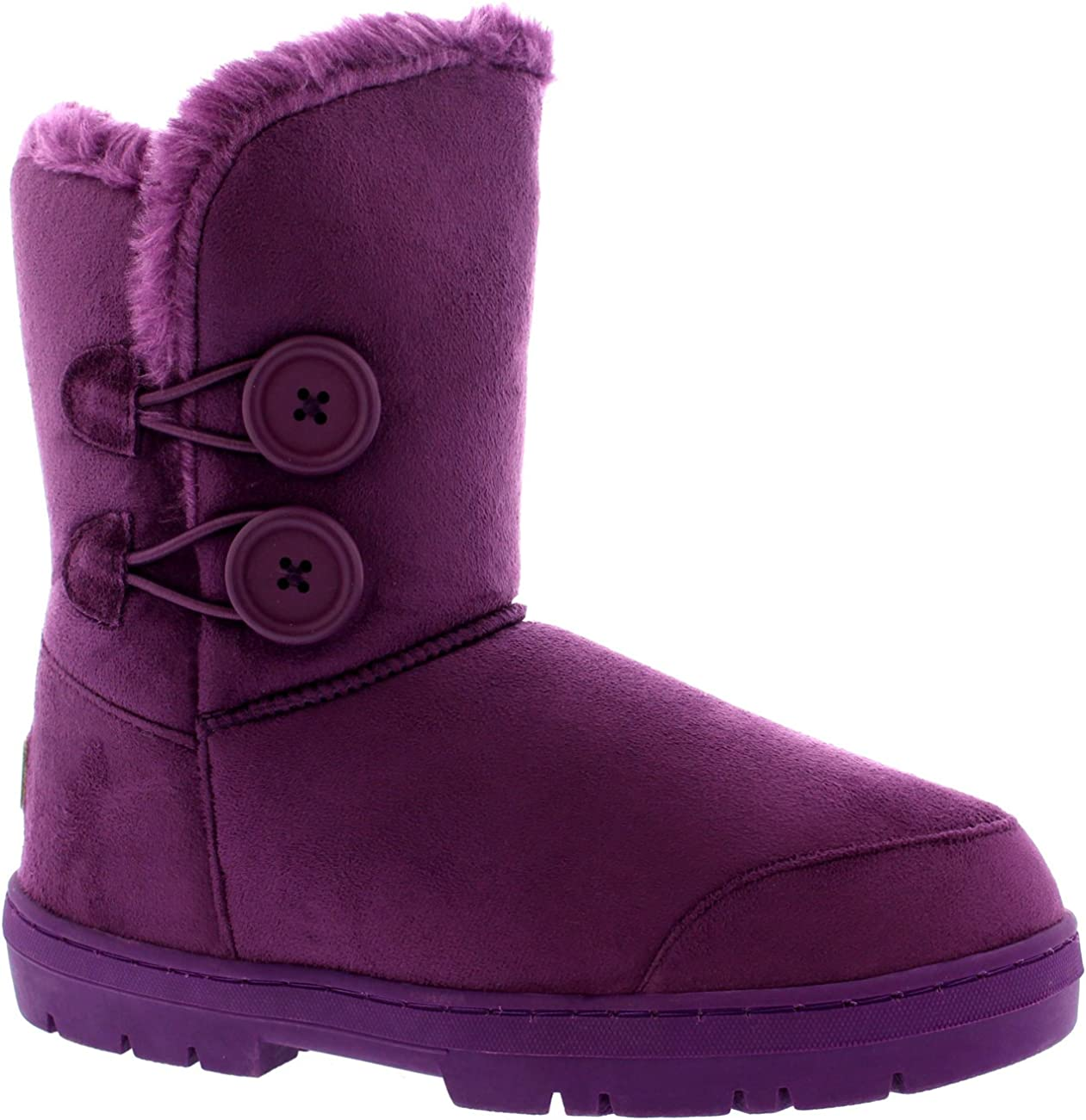 Holly Womens Twin Button Waterproof Winter Snow Boots