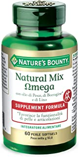 Fish, Organic Flaxseed and Borage Oils by Nature's Bounty, Omega 3-6-9 and Fatty Acids, Supports Heart, Cellular and Metab...