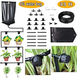 FAMI HELPER Indoor Watering System Drip Irrigation Kits - DIY 10L Water Bag Drip Kit with Adjustable Drippers for House Plants,Potted Plants
