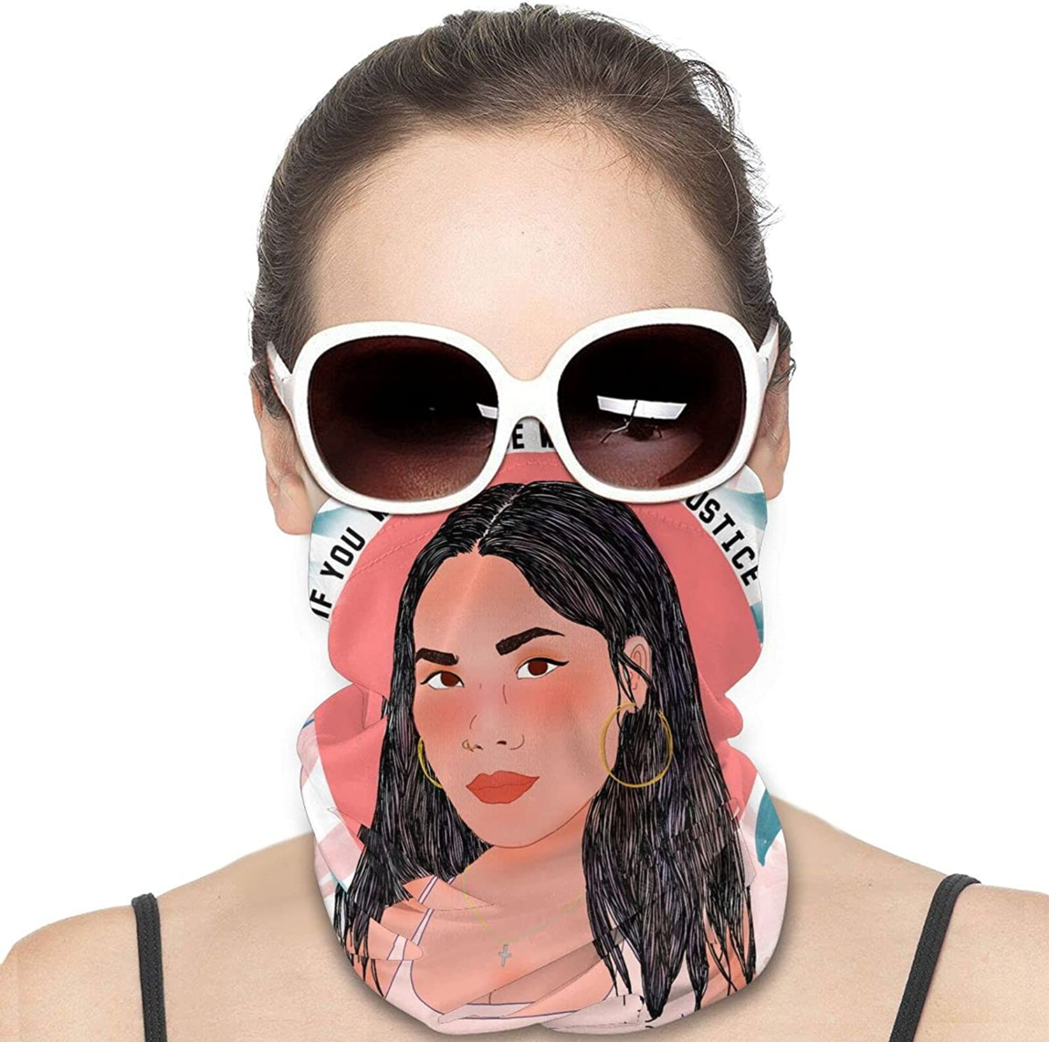 If You Want Peace Work Justice Round Neck Gaiter Bandnas Face Cover Uv Protection Prevent bask in Ice Scarf Headbands Perfect for Motorcycle Cycling Running Festival Raves Outdoors