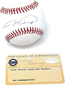 Jacob Degrom New York Mets Signed Autograph Official MLB Baseball Steiner Sports Certified