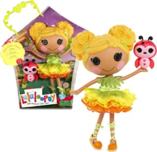 Lalaloopsy MGA Entertainment Sew Magical! Sew Cute! 12 Inch Tall Button Doll - Mari Golden Petals with Pet Ladybug