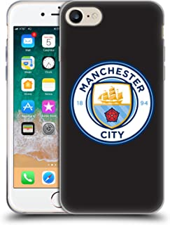 Official Manchester City Man City FC Black Full Colour Badge Soft Gel Case Compatible for iPhone 7 / iPhone 8