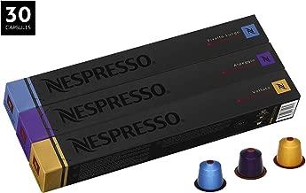 Nespresso Decaffienato Variety Pack OriginalLine Capsules, 30 Count Decaf Espresso Pods, Intensity 4 & 9 Blend, 3 Coffee Flavors Include Vivalto Lungo, Arpeggio & Volluto
