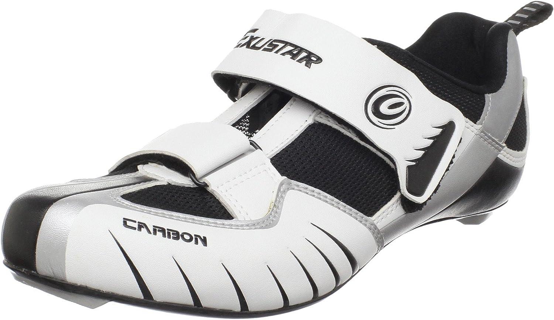 Exustar Men's ST213 Carbon Triathlon shoes