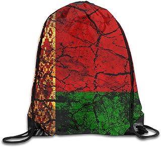 Vintage Belarus Flag Drawstring Backpack Bag Rucksack Shoulder Sackpack Sport Gym Yoga Runner Beach Hiking Dance