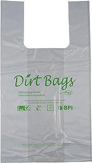 购物袋、垃圾袋、可重复使用、防水、经认证的 * 家庭可降解-* 可生物降解、无塑料,每包 100 件,美国宠物袋