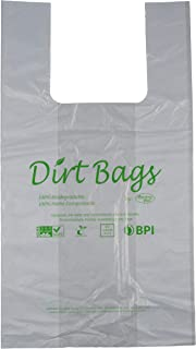 Moisture Resistant, Certified 100% Home Compostable - 100% Biodegradable, Shopping Bags, Reusable, Trash Bags, No Plastic, Pack of 100, Dirt Bags by American Poet