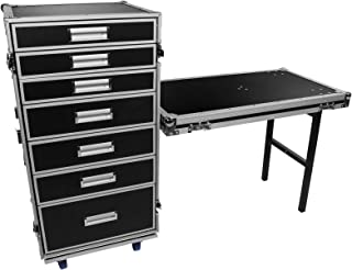 OSP Cases | Pro-Work | 7-Drawer Utility Case|Attachable Standing Lid Table
