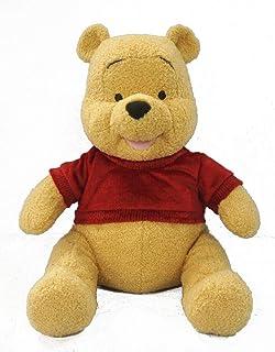 Disney Plush My Teddy Bear Pooh, 20 inch, Yellow/Red