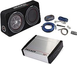 """KICKER Bass Package - 43TCWRT102 10"""" Thin Loaded Subwoofer w/Radiator, a KX 800 Watt Amplifier, 4-AWG Wiring Kit"""