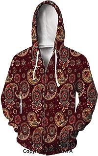 Unisex Hoodie Rap Cool Shabby Chic Roses Image Art Pullover Hooded Sweatshirt