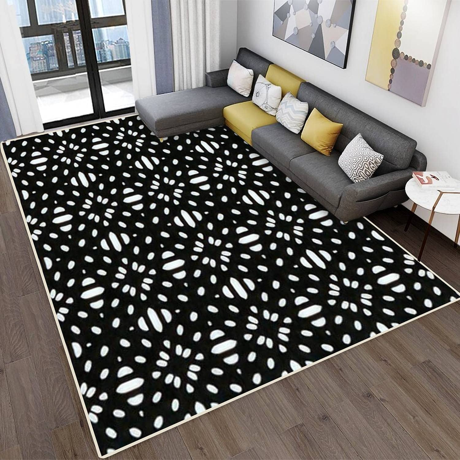 Modern Abstract Area Rugs Charlotte Mall discount for Kitchen Room Floral Bedroom Living