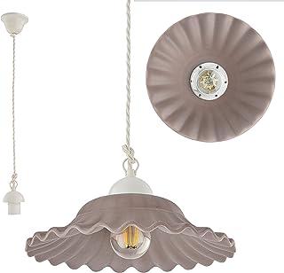VANNI LAMPADARI - Lampada a sospensione Art.002/442 Diametro 30 in Ceramica Decorata in 5 Colori Pastello Indelebili